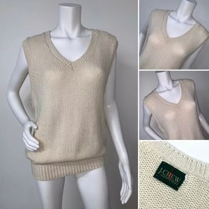 J Crew Outfitters Sleeveless Heavy Knit Vest M